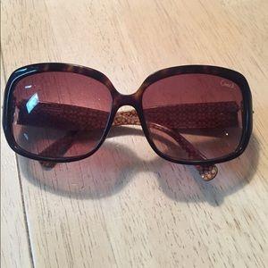 Authentic Brown Coach Sunglasses